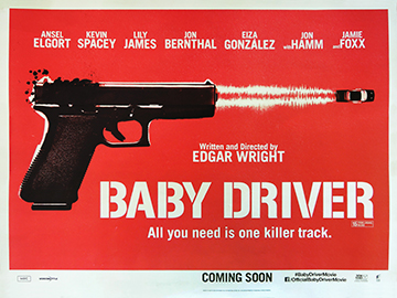 Baby Driver advance movie quad poster