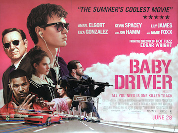 Baby Driver movie quad poster