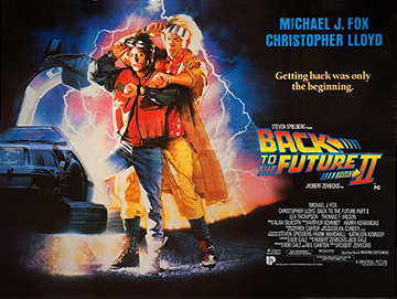Back To The Future 2 movie quad poster