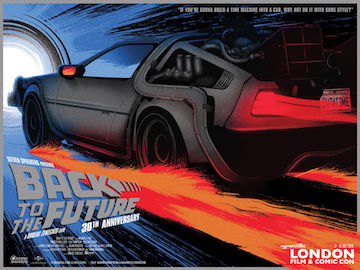 Back To The Future 30th anniversary London Comic-Con movie poster