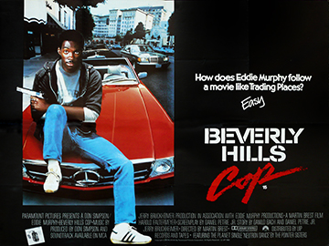 Beverly Hills Cop movie quad poster