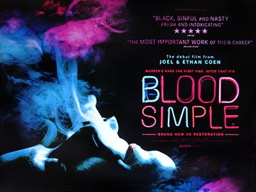 Blood Simple movie quad poster