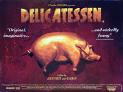 delicatessen movie quad poster