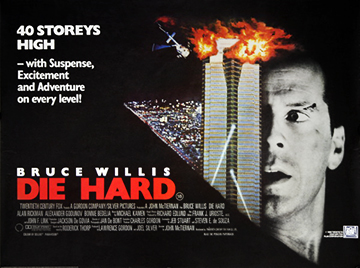 Die Hard movie quad poster