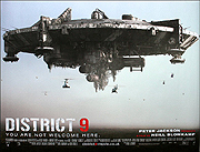 District 9 movie quad poster