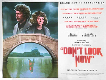 Don't Look Now 2019 4k rerelease movie quad poster