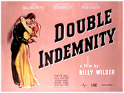 Double Indemnity 2012 re-release movie quad poster
