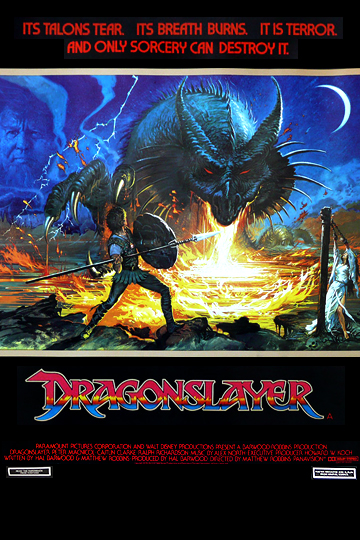 Dragonslayer bus shelter movie poster