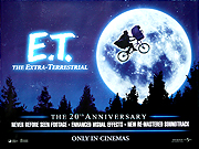 E.T. The Extra Terrestrial 20th Anniversary quad poster