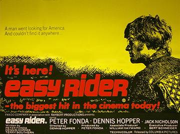 Easy Rider movie quad poster