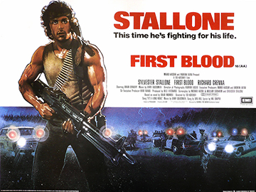 First Blood movie quad poster