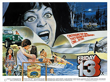 Friday The 13th movie quad poster