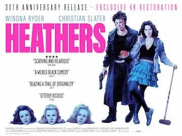 Heathers movie quad poster