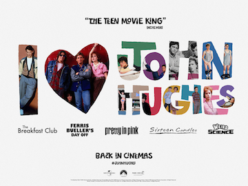 I love John Hughes movie quad poster