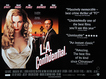 L.A. Confidential movie quad poster