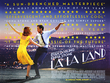 La La Land movie quad poster