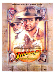 Indiana Jones & The Last Crusade Italian movie poster