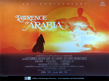 Lawrence Of Arabia 50th Anniversary re-release movie quad poster