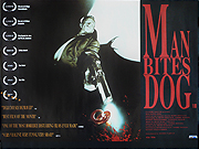 Man Bites Dog movie quad poster