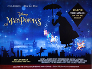 Mary Poppins movie quad poster