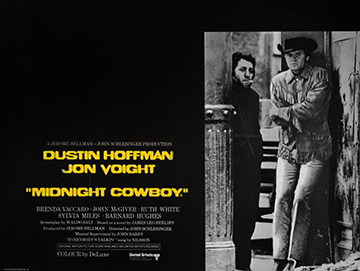 Midnight Cowboy movie quad poster