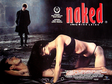 Mike Leigh's Naked movie quad poster
