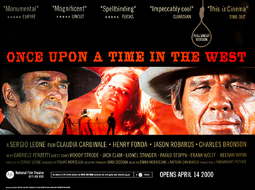 Once Upon A Time In The West bfi re-release movie quad poster