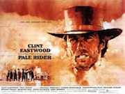 Pale Rider movie quad poster