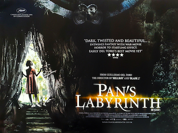 Pan's Labyrinth movie quad poster