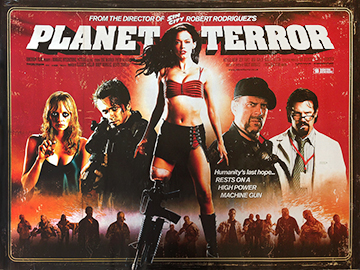 Planet Terror movie quad poster
