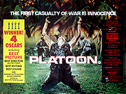 Platoon movie quad poster