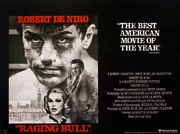 Raging Bull movie quad poster