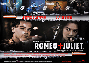 Romeo + Juliet movie quad poster