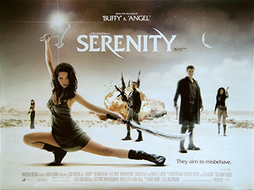 Serenity movie quad poster