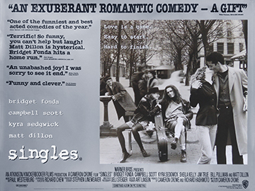 Singles movie quad poster
