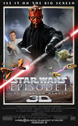 STAR WARS EPISODE ONE - THE PHANTOM MENACE 3D movie one-sheet poster