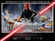 STAR WARS EPISODE ONE - THE PHANTOM MENACE 3D movie quad poster