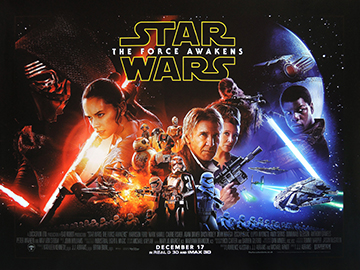Star Wars - The Force Awakens movie quad poster