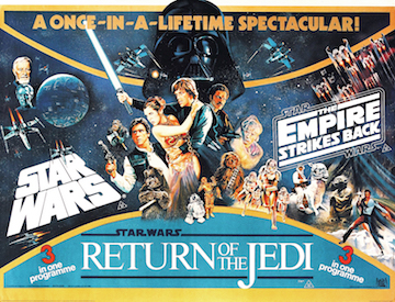 STAR WARS AND THE EMPIRE STRIKES BACK double bill movie quad poster