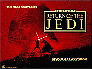 RETURN OF THE JEDI movie quad poster