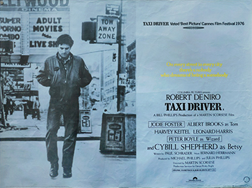 Taxi Driver movie quad poster