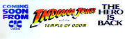 Indiana Jones & The Temple Of Doom video poster banner