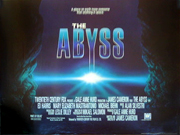 The Abyss film quad poster