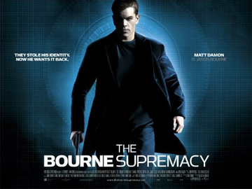 THE BOURNE SUPREMACY quad poster