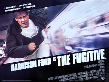The Fugitive film quad poster