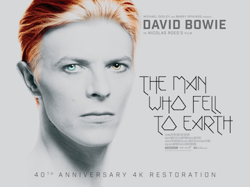 The Man Who Fell To Earth 2016 4k restoration re-release movie quad poster