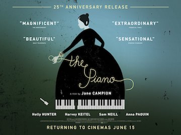 The Piano 25th anniversary movie quad poster