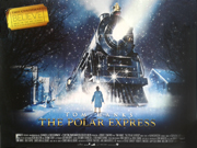 The Polar Express 3D re-release movie quad poster
