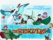 The Rescuers movie quad poster