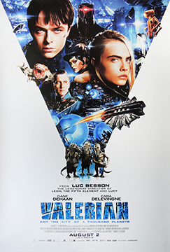 Valerian one sheet movie poster
